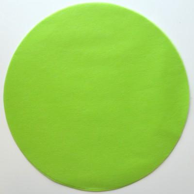 Set de table rond intissé vert 34 cm.