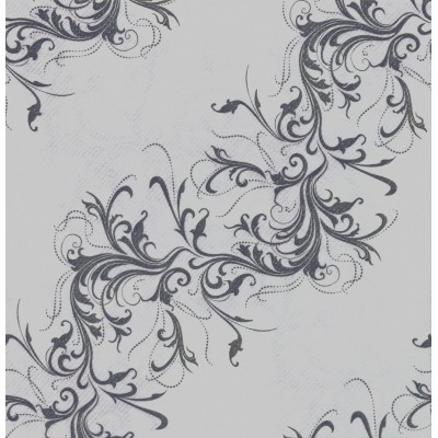 Chemin de table fantaisie gris perle décor Harmony
