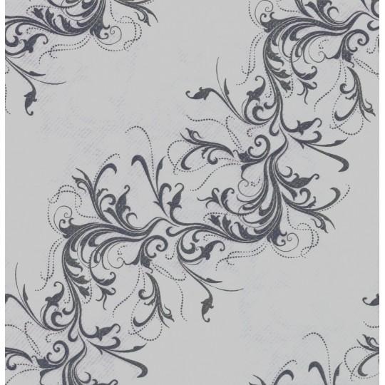 Chemin de table gris perle fantaisie d cor harmony - Chemin de table gris perle ...