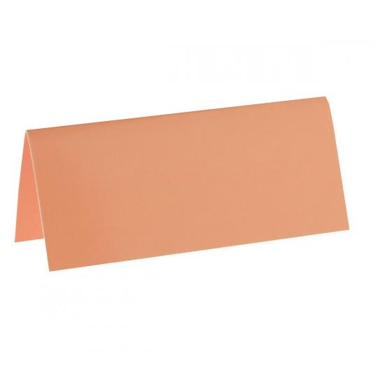 Marque place corail rectangle, en carton.