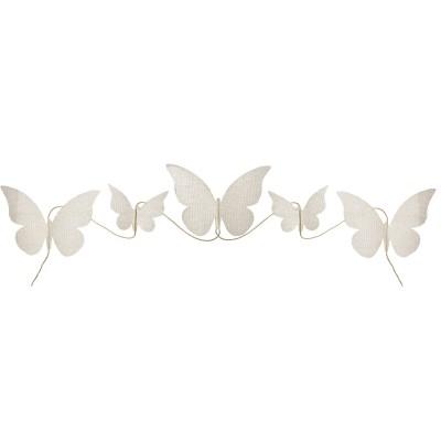 Guirlande papillons tissu