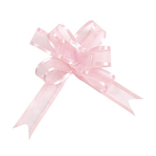 Noeud à tirer organza rose 20 mm