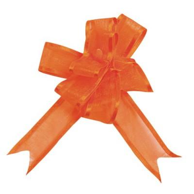 Noeud à tirer organza orange 20 mm