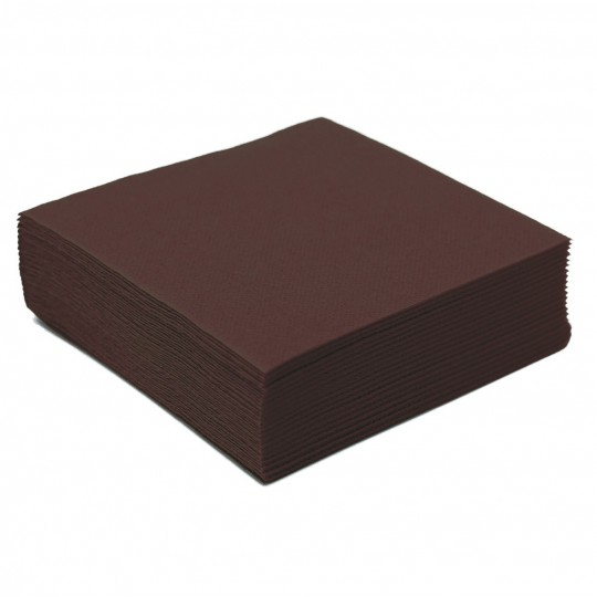 Serviette cocktail chocolat jetable
