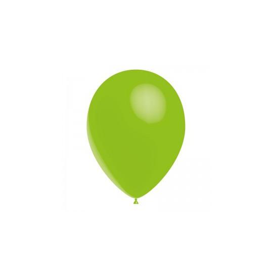 Ballon vert lime 28 cm sachet de 12