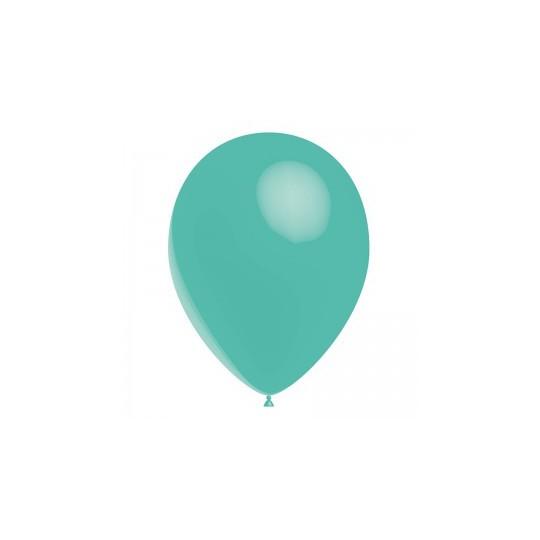 Ballon bleu turquoise 28 cm sachet de 12