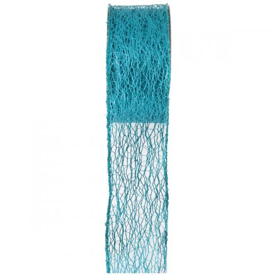 Ruban métallique Grace bleu turquoise