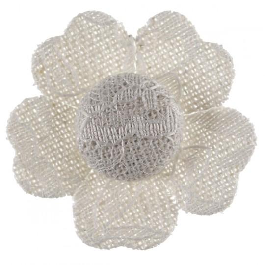 Fleurs en dentelle autocollantes