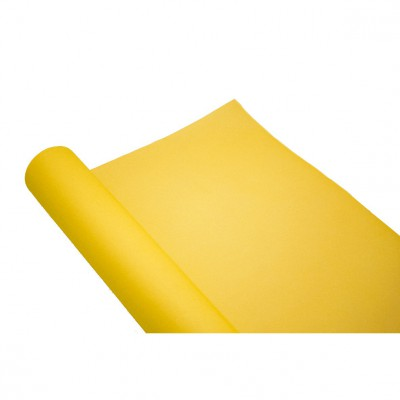 chemin de table uni jaune vif