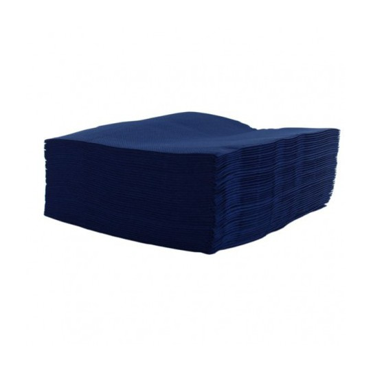 Serviette cocktail bleu marine jetable