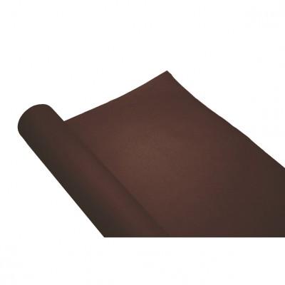 chemin de table uni chocolat