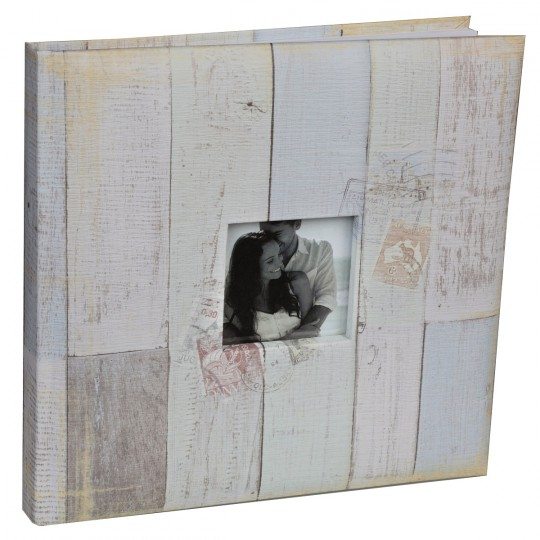 Livre d'or bord de mer 24 x 24cm avec insert photo.