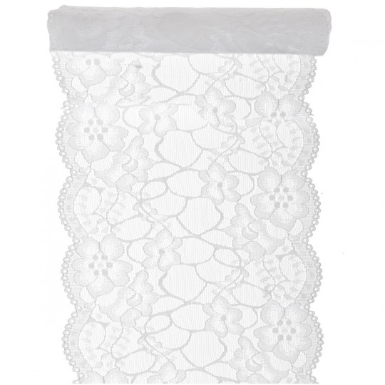 Chemin de table dentelle blanc 3 M