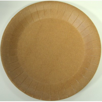 Assiettes kraft jetable paquet de 10.