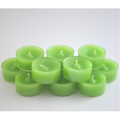 Bougies chauffe-plat vertes, paquet de 20 pièces.