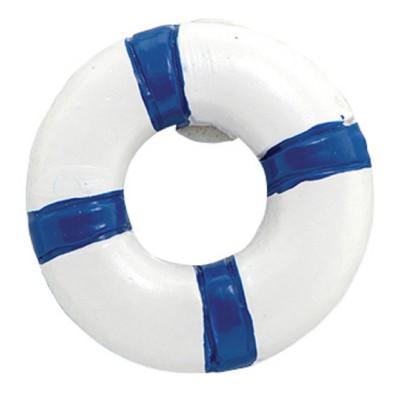 12 Bouées de sauvetage marines et blanches Ø 2 cm