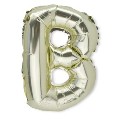 Ballon métal or lettre B 36 cm