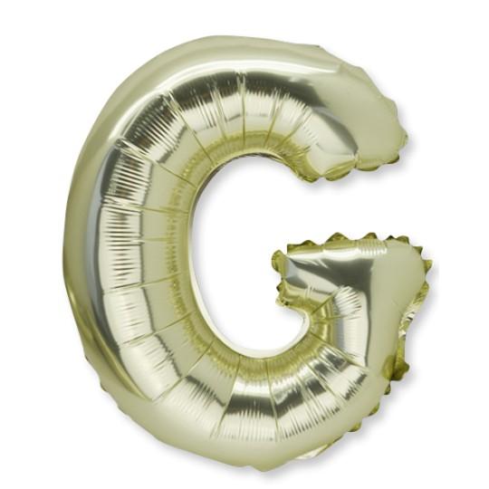 Ballon métal or lettre G 36 cm