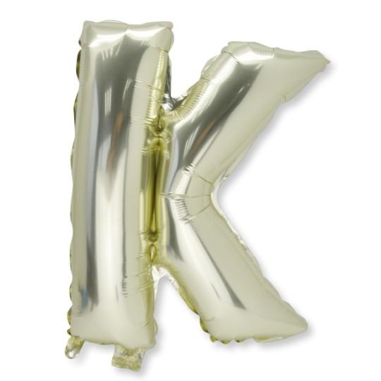 Ballon métal or lettre K 36 cm