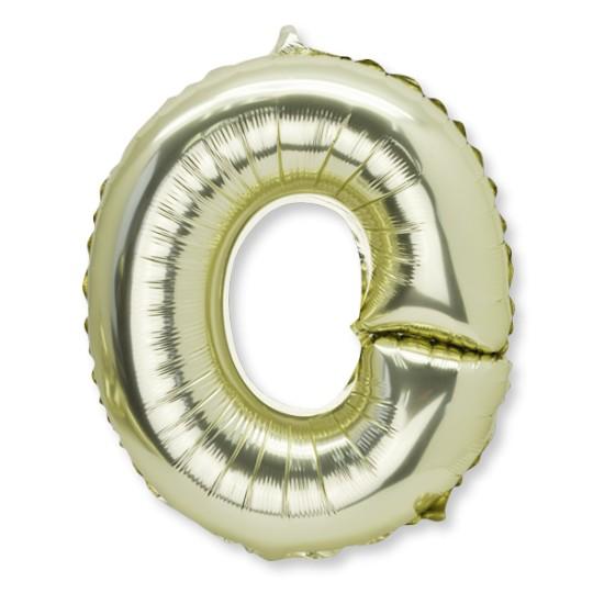Ballon métal or lettre O 36 cm