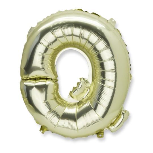Ballon métal or lettre Q 36 cm