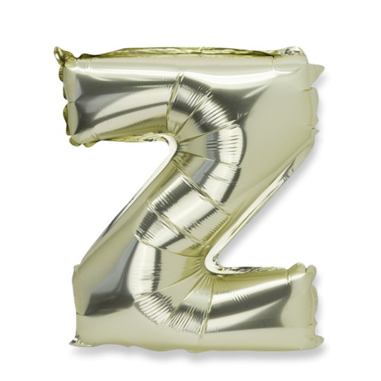 Ballon métal or lettre Z 36 cm