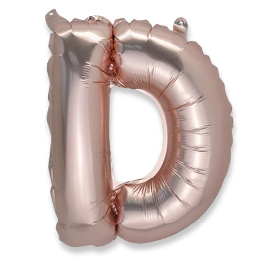 Ballon métal cuivre lettre D 36 cm