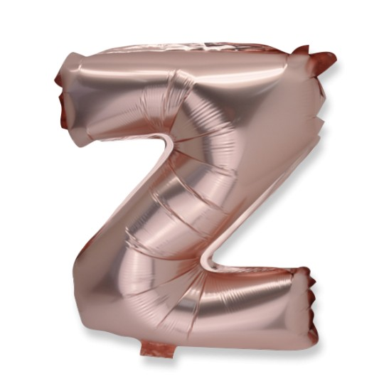 Ballon métal rose gold lettre Z 36 cm