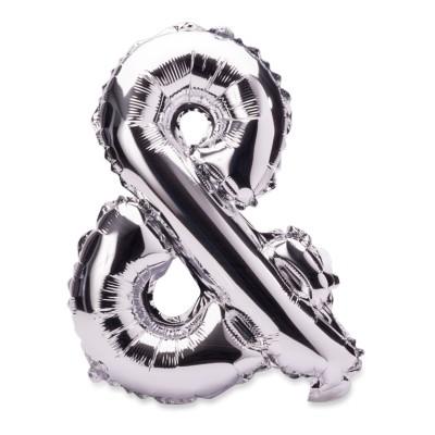 Ballon métal argent symbole &