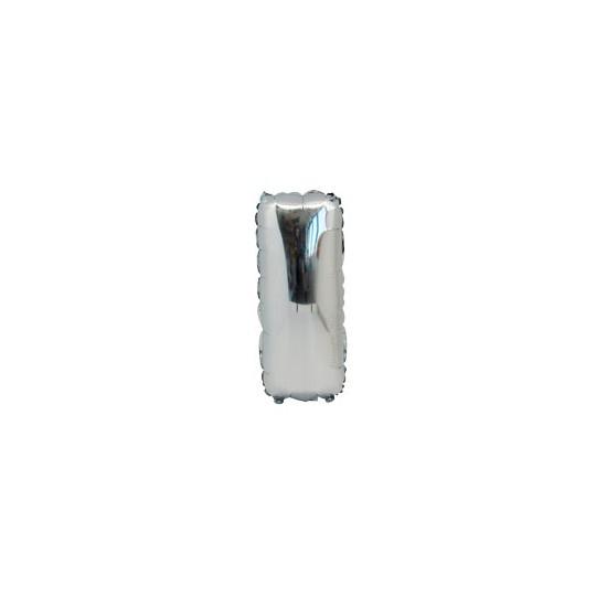 Ballon métal argent lettre I 36 cm