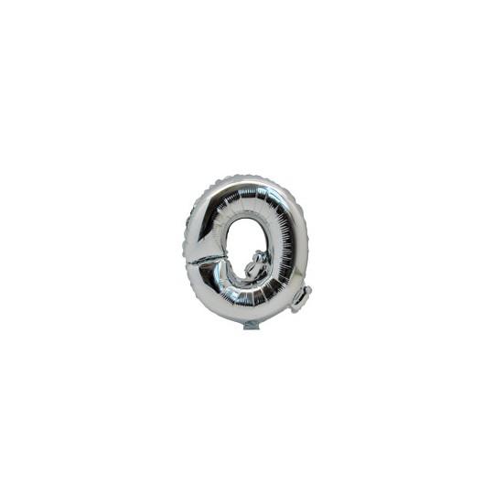 Ballon métal argent lettre Q 36 cm