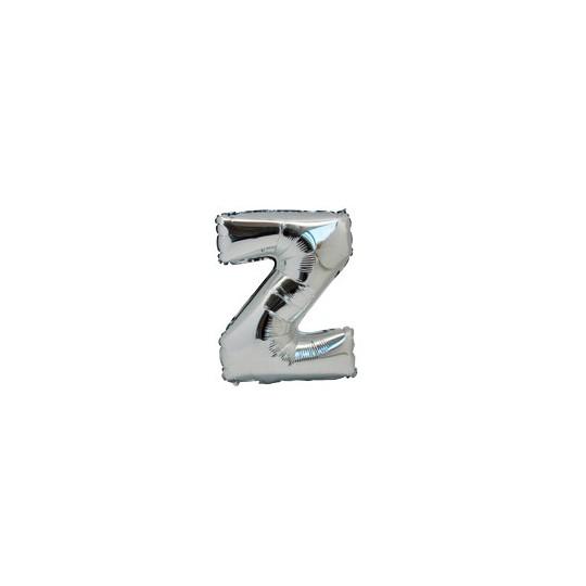 Ballon métal argent lettre Z 36 cm