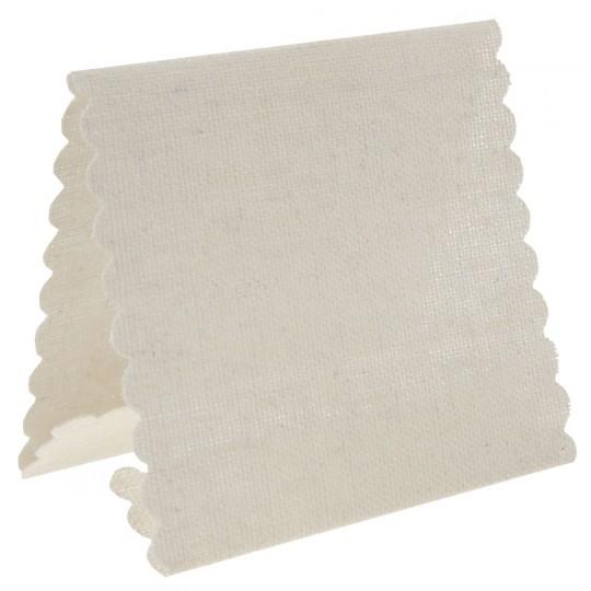Marque place chevalet tissu ivoire
