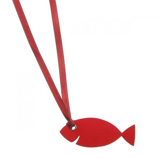Marque place étiquette poisson rouge