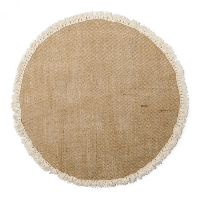 Centre de table rond jute & franges Ø 50 cm