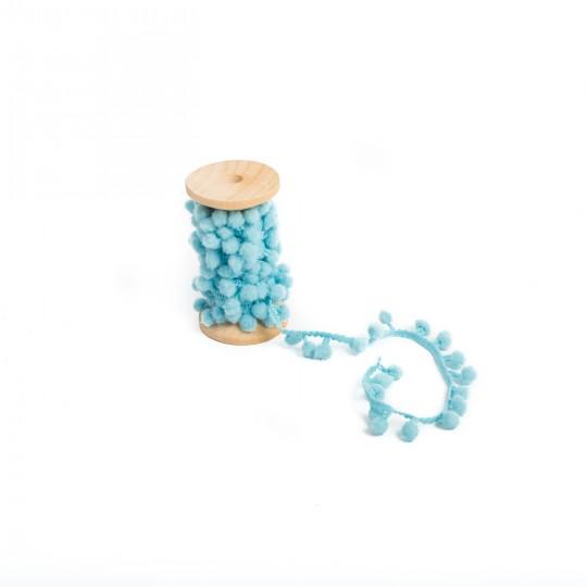 Bobine pompon bleu ciel