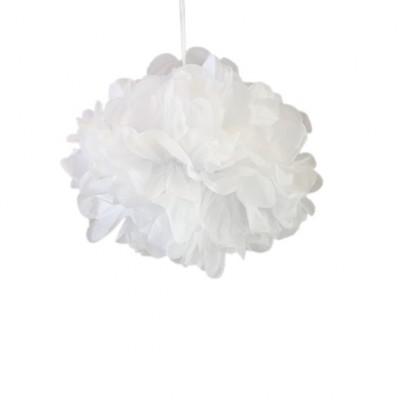 Pompons blanc 30cm x 2