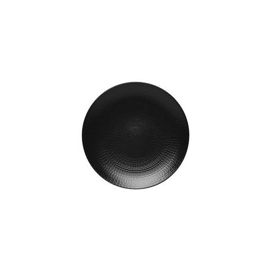 Assiette ronde noire Modulo Guy Degrenne.