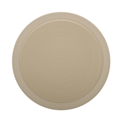 Assiette ronde Bahia Beige Guy Degrenne.
