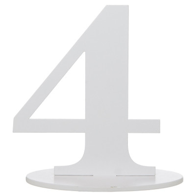 Marque table bois blanc chiffre N°4