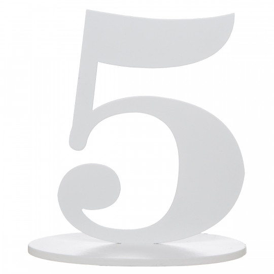Marque table bois blanc chiffre N°5