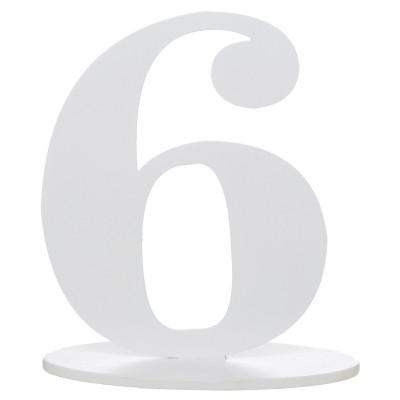 Marque table bois blanc chiffre N°6