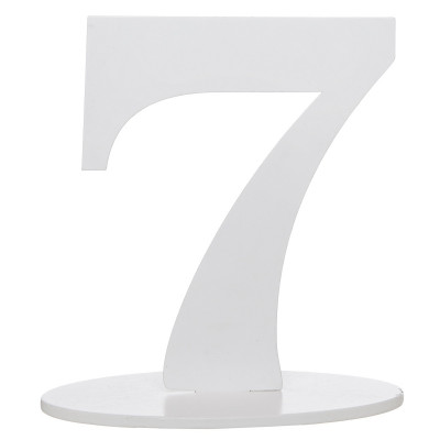 Marque table bois blanc chiffre N°7