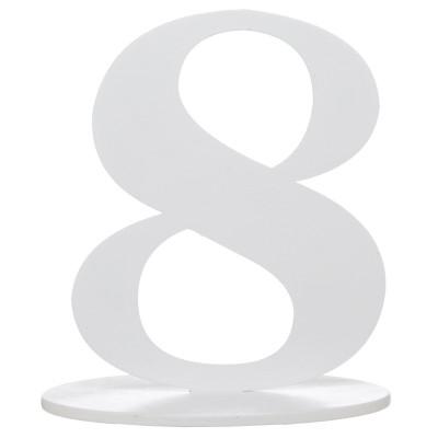 Marque table bois blanc chiffre N°8