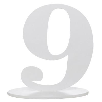 Marque table bois blanc chiffre N°9