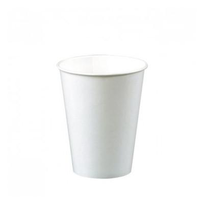 Gobelet blanc fibre végétale 100 % compostable.