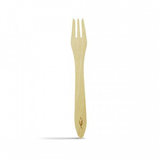 20 fourchettes bois, 100% fibres naturelles.