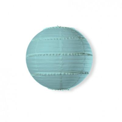 Boule japonaise avec guirlandes de pompons. Ø 35 cm