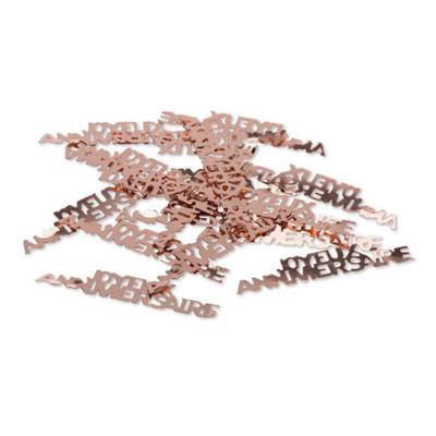 """Sachet confettis de table """"JOYEUX ANNIVERSAIRE """" argent 5 cm"""