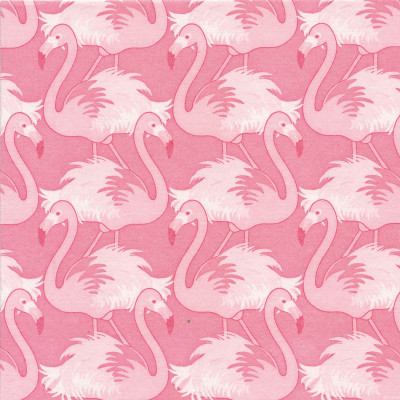 "Serviette jetable Paviot motif ""Les flamants roses"""
